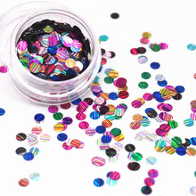 New Thin Round Glitter Laser Nail Art Glitter Dust 3d Slice Paillette Sheet Tips Decorations