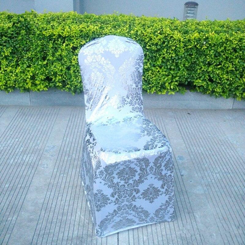 Style européen doré argent couleur salle à manger chaise couverture Spandex mariage fête siège couvre cuisine housse de chaise