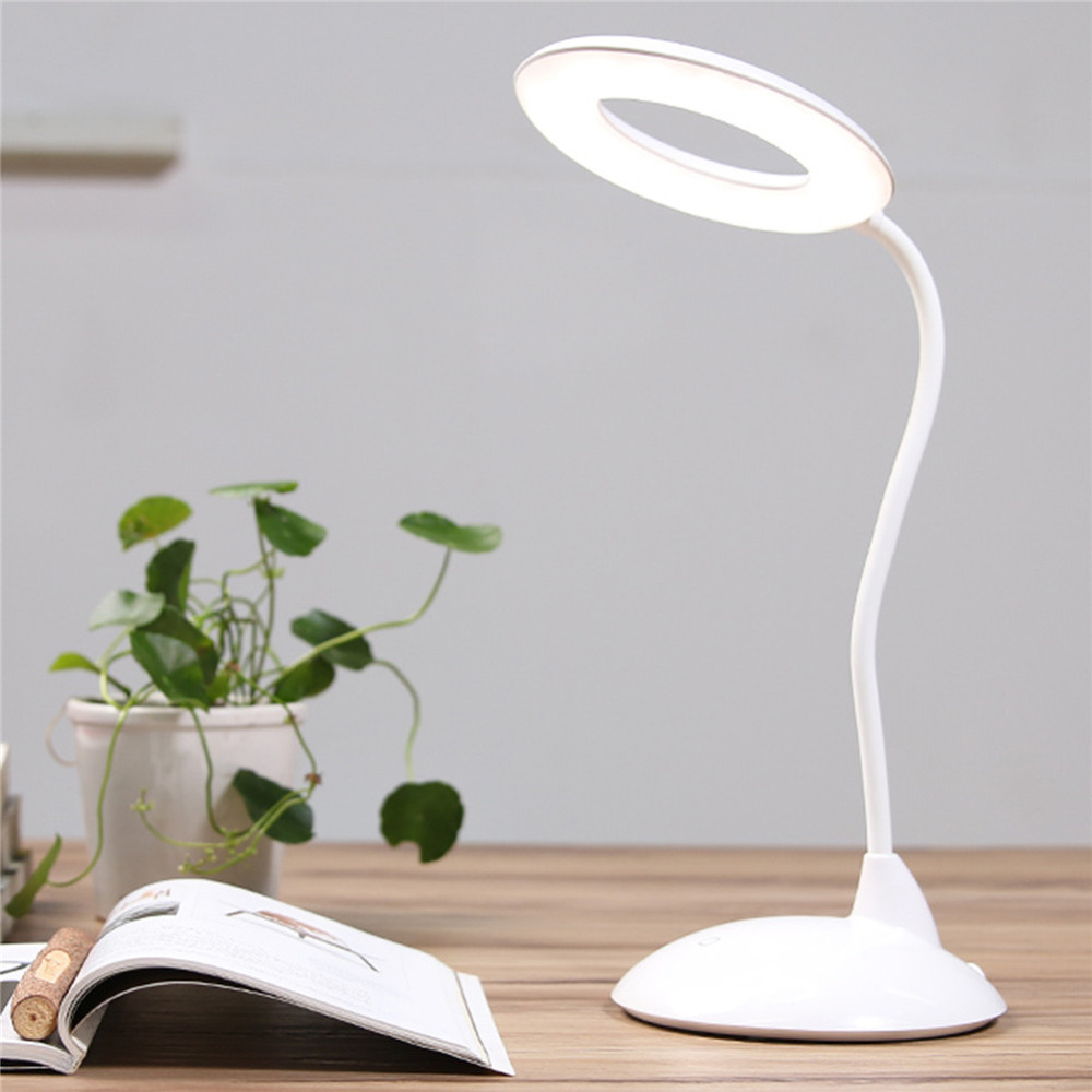 IMINOVO Desk Table Lamp High Capacity LED Book Light Reading Eye-Care Lamparas De Mesa Rechargeable Study Reading Night Light 3W yage desk lamp book reading night light colorful lamp for study non limit brightness 34pcs led 3 modes lamp eu usa uk plug