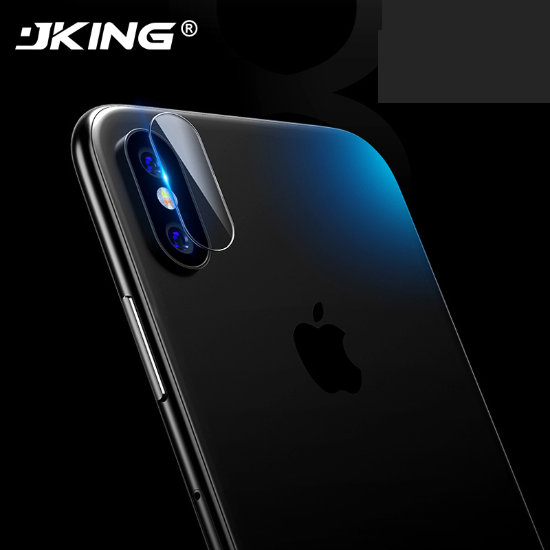 JKING 2Pcs Tempered Glass Protector Full Cover Protection For iphone X 8 7 Plus Back Rear Camera Lens Screen Protective