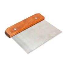Ручка из твердой древесины нож для мыла прямо из нержавеющей Воск нож для пончиков мыловарения распродажа