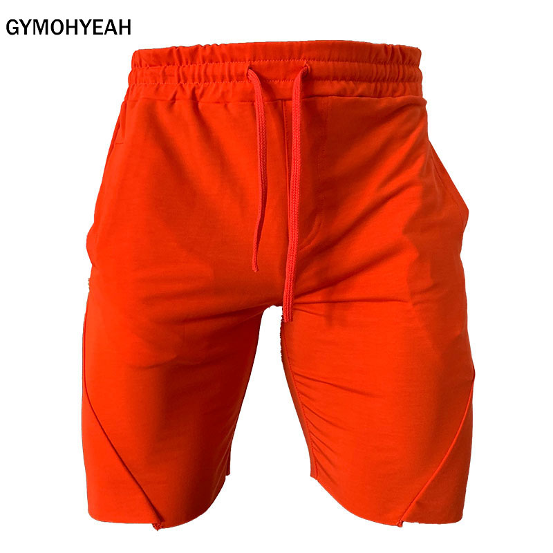 GYMOHYEAH Men Fitness Bodybuilding Shorts Man Casual Gyms Workout Male Breathable Quick Dry Sportswear Jogger Beach Short Pants