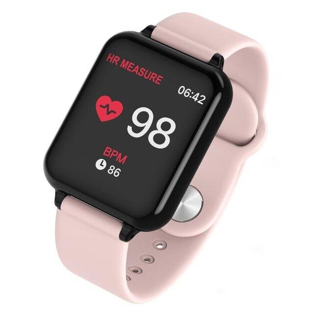 Pulseira inteligente B57 Android À Prova D' Água Relógio Dos Homens Das Mulheres assistir Com Freqüência Cardíaca Pressão Arterial Inteligente Smartwatch Para IOS telefone