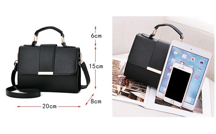 Women Bag Leather Handbags PU Shoulder Bag Small Flap Crossbody Bags for Women Messenger Bags 12