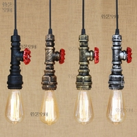 Loft Vintage Waterpipe Rope pendant Light For Living Room Retro Edison bulb Creative Personality American Style Industrial Lamp