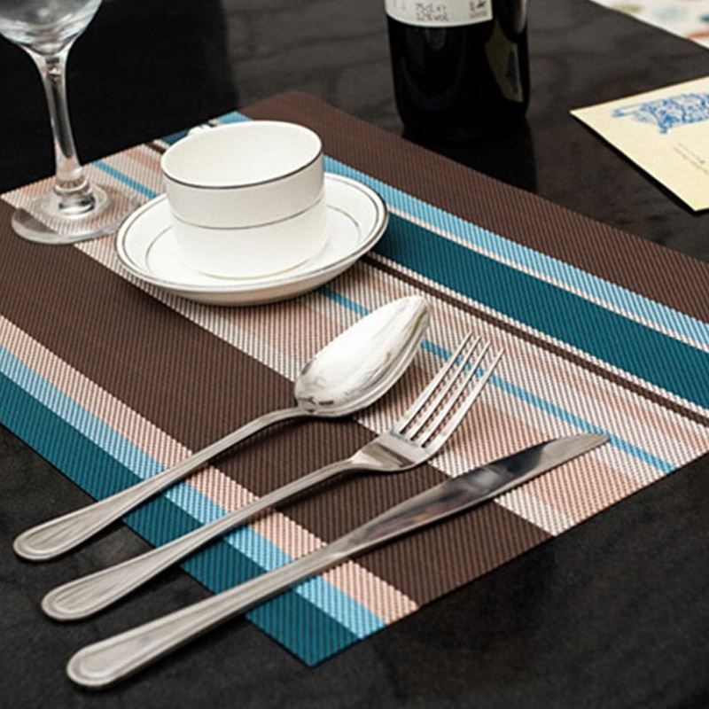 4Pcs PVC Quick drying Placemats Coasters Kitchen Dining Table Insulation Home Using Mats Hot Sale