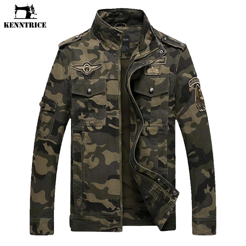KENNTRICE Camouflage Jacket Men Cotton Military Male Jean Jacket Spring Autumn Soldier Jacket Men's US Army Jacket Coat