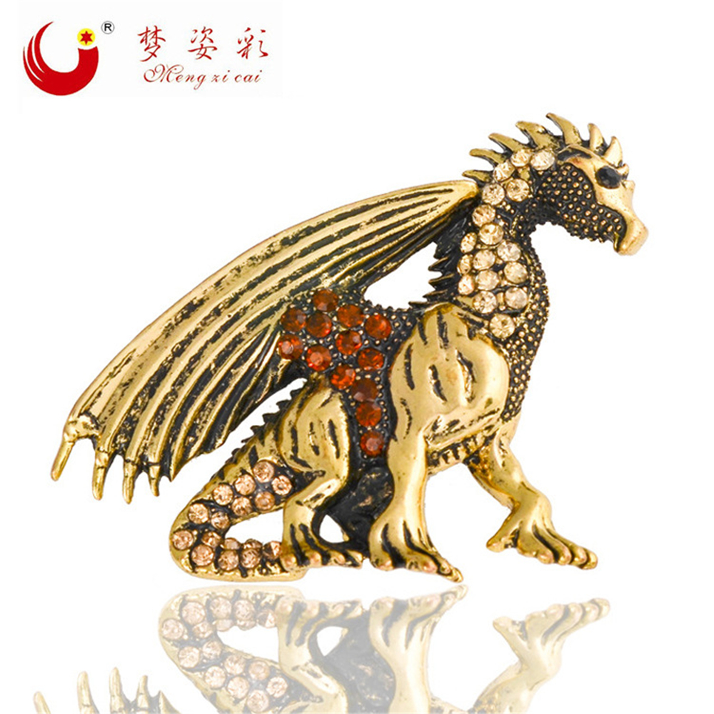 Jogos Vorazes Men Lapel Pin Boorch Vintage Game of Throne Dragon Broche X0855