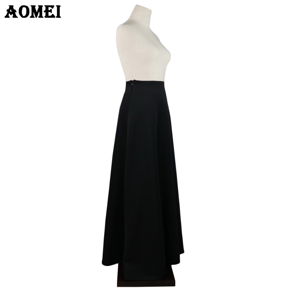 38a1d3a14 New Skirt Without Waist Band Pleat Elegant Wine Red Black Solid Color Long  Skirts Women Faldas Saia 5XL Plus Size Ladies Jupes -in Skirts from Women's  ...