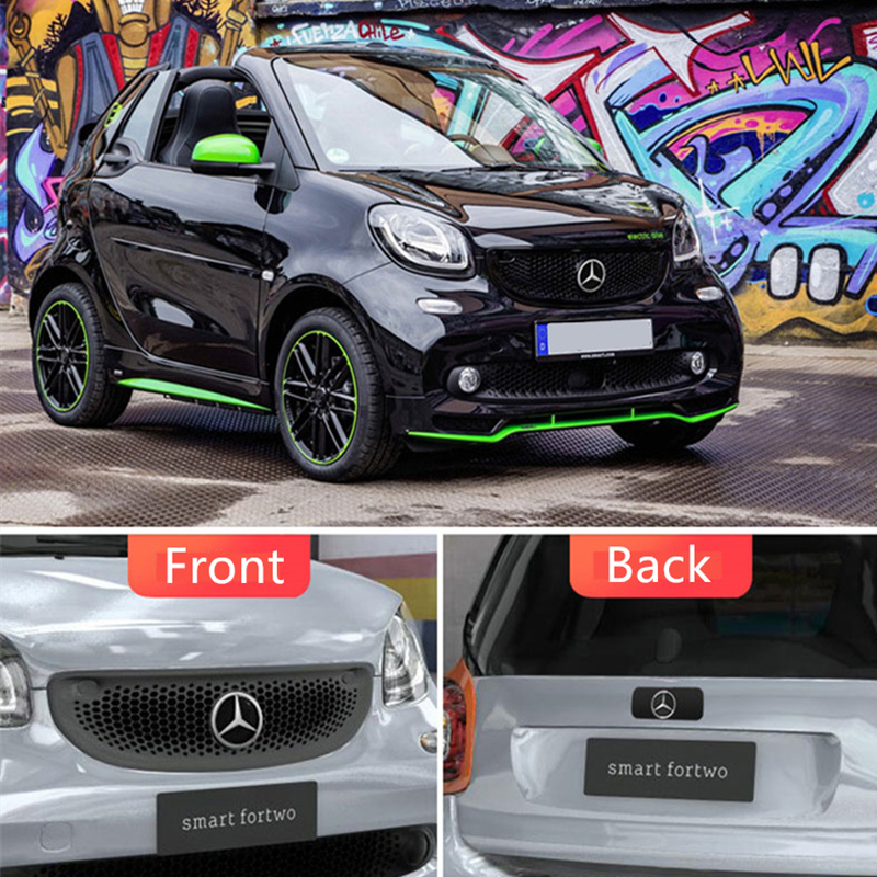 Car Front Radiator grille brand ornament modification For Mercedes Smart 453 fortwo forfour car exterior styling accessories