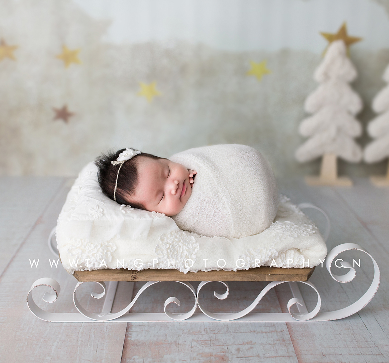 Newborn Photography Props Baby Photo Creative Props Newborn Carriage Small Bed Props Studio Photo