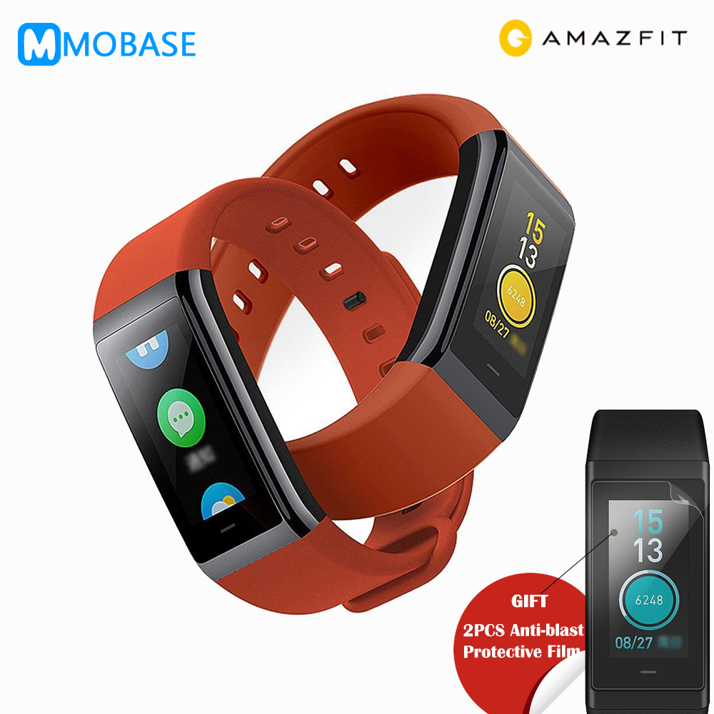 [English Version] Original Huami Amazfit Cor Bluetooth Smart Bracelet 5ATM Waterproof 2.5D Color IPS 316L Stainless Steel Frame байк водный aqquatix smart aqquabike 316l afa0013prw
