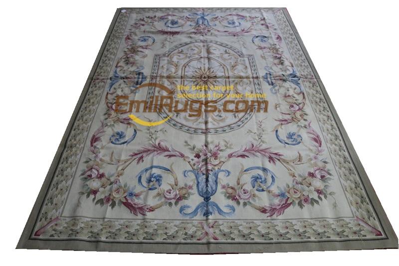 aubusson tapete artesanal francês chique lã tricô tapetes