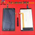 Best Working Black Full LCD Display Touch Screen Digitizer Assembly For Lenovo S856 Mobile Phone Replacement