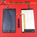 Melhor trabalho preto lcd full screen display toque digitador assembléia para lenovo s856 celular substituição
