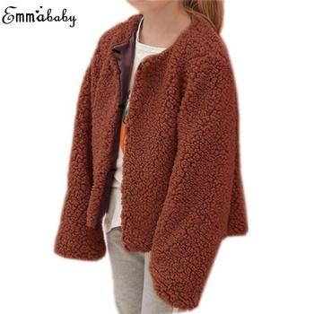 85d98a75b 2018 Autumn Winter Plush Jacket Coat Baby Girl Clothes Long Sleeve ...