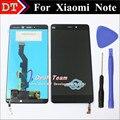 De alta qualidade para xiaomi mi note display lcd + digitador do toque substituição assembleia tela 5.7 polegada cor preta frete grátis