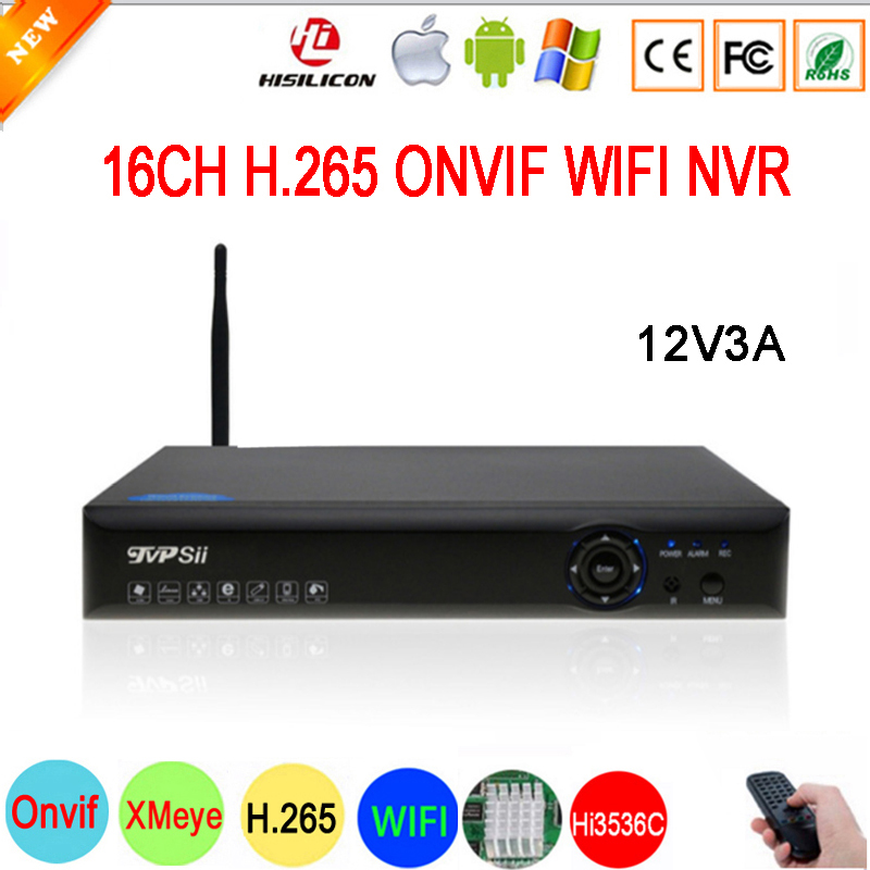 5mp IP Camera Blue-Ray panel 12V 3A Hi3536D XMeye 5mp Audio H.265+ 16CH 16 Channel Onvif WIFI CCTV NVR Free Shipping