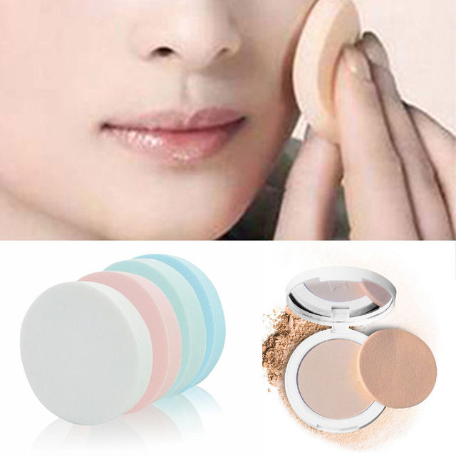 Color send randomly!!! 10 Pcs Soft Makeup Foundation Face Round Sponge Smooth Powder Puff Makeup Brushes