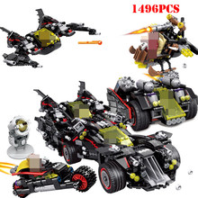 1496+pcs Super Heroes Batman Ultimate Batmobile Bat Motorcycle Building Blocks Toy Compatible Legoed Technic Marvels Bricks Toys(China)