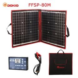 Dokio 80 W (40*2 pcs) 18 V Flessibile Pannello Solare Pieghevole + 12 V/24 V Regolatore Solare Pannello Solare Portatile Per Il Campeggio/ di viaggio