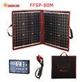 Dokio 80 W (40*2 piezas) panel Solar plegable Flexible de 18 V + Panel Solar portátil de 12 V/24 V para acampar/ viajes