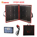 Dokio 80 W (40*2 stuks) 18 V Flexibele Opvouwbare Zonnepaneel + 12 V/24 V Solar Controller Draagbare Zonnepaneel Voor Camping/ reizen