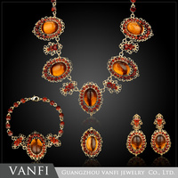 New Styles Statement Fashion Elegant Resin Stone Luxury Yellow Pendant Necklaces Pendant 2016
