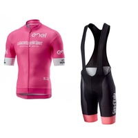 2018 new pro team tour de italy pink cycling jersey kits mens summer bike cloth MTB Ropa Ciclismo Bicycle maillot gel pad