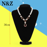 1pcs 36* 24CM Women Lady Girl Black Velvet Pendant Necklace Display Pedestal Jewelry Chain Display Holder Bust Stand Show