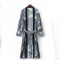 2019 Japan Style Print Vintage Harajuku Style Blouse Shirts Japanese Kimono Tops Shirts