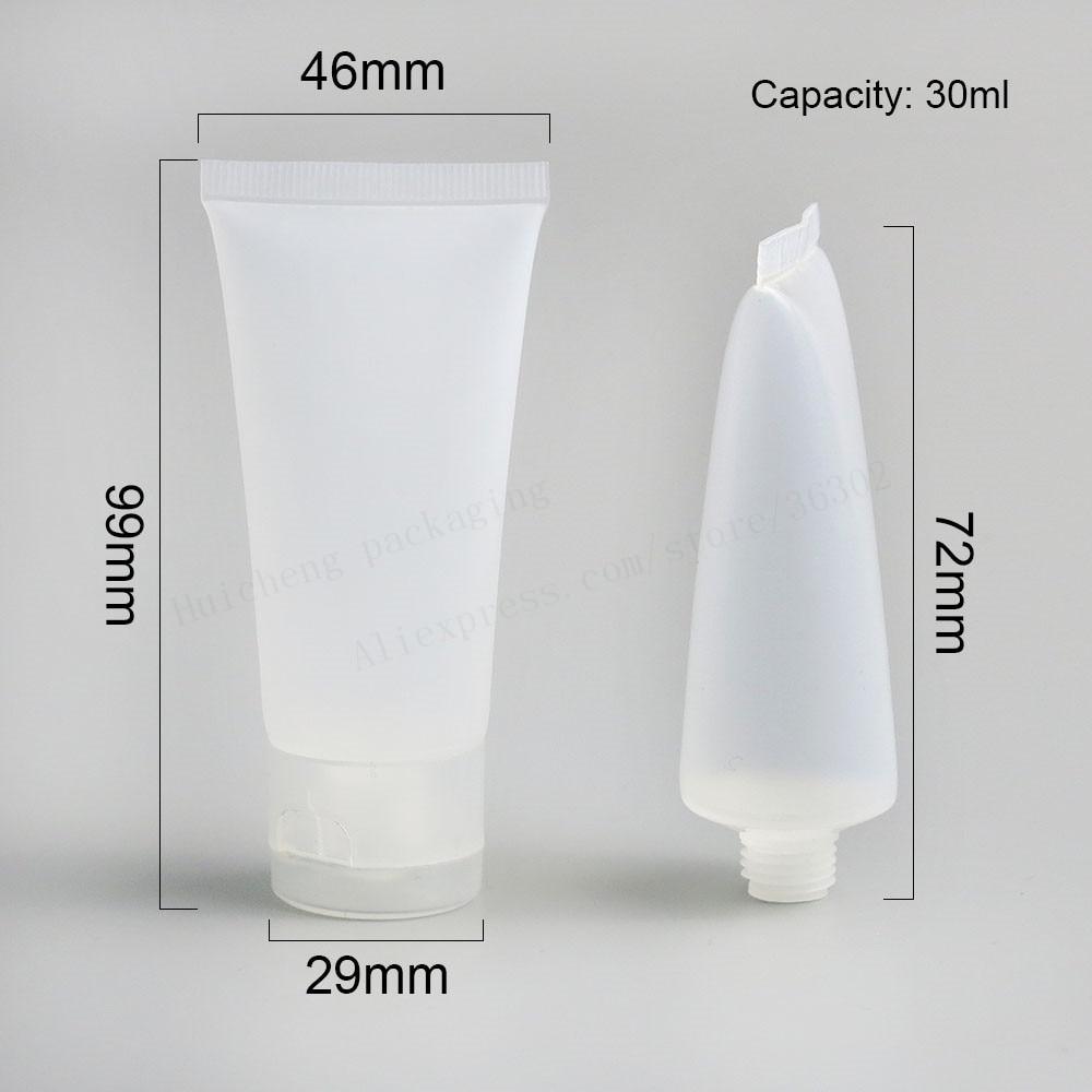 50x30 мл ясный Мороз mildy мыть мягкие трубки масло 1 унции крем для рук пластиковые контейнеры для косметики