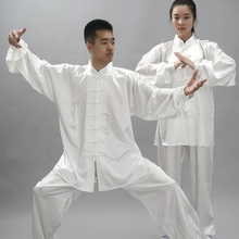 Women Men Tai Chi Clothes Chinese Uniform Top Shirt Pants Set Practicing Exercise Spring Summer(China)