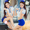 2016 New Sexy Sailor uniforms Japanese Girl Student Stewardess Role Play Cosplay Costume Flight Attendant Women Erotic lingerie