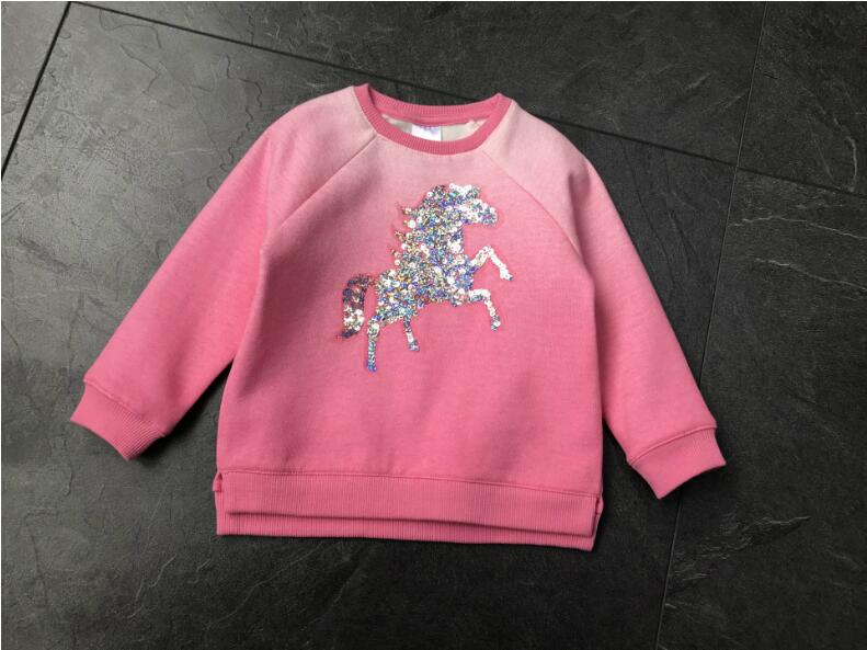 YD1723 2018 Spring Baby Girl Top Fashion Squeins Girl Tee Lolita Full Sleeve Kids Pullover Girls Clothes