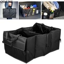 New 1PC Foldable Car Auto Back Rear Trunk Seat Big Storage Bag Pocket Organizer Drop shipping