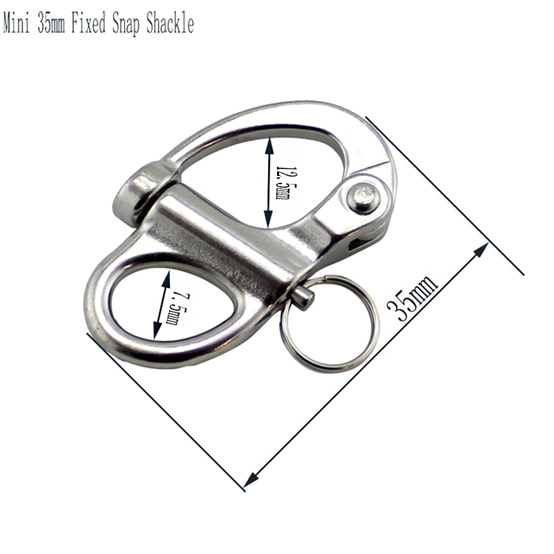 Image 2 - 100 pcs 35mm Snap Shackle Rigging Sailing Fixed Bail Stainless Steel 316 Fixed Eye Snap Hook Sailboat Sailing Boat Yacht-in Marine Hardware from Automobiles & Motorcycles