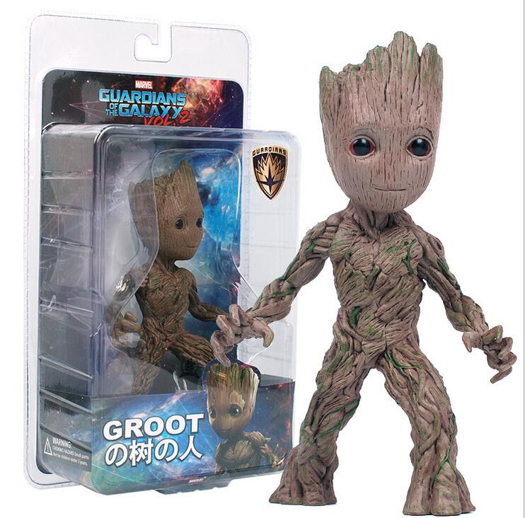 2017 NEW 15cm Tree Man Action Figure Toy PVC Marvel Movie Hero Model Doll Toy Guardians of the Galaxy Boy Gift free shipping cool big 12 justice league of america jla super man superman movie man of steel pvc action figure collection toy