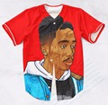 Real USA Size Custom Made Tupac Juice (Red) Fashion 3D Sublimation Print  Baseball Jersey Plus Size