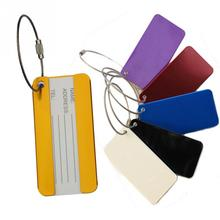 Aluminum Alloy Luggage Tag Label Portable Secure Travel Suitcase Card Tag Outdoor