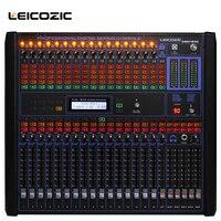 Leicozic 16 канальный цифровой аудио смеситель 19 крепление смесители professional микшерный пульт Цифровой dj оборудование live смесители этап