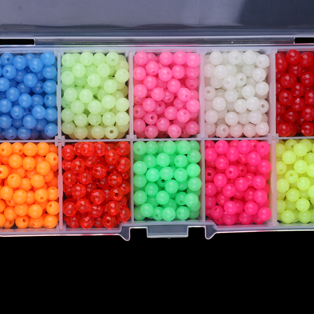 1000 pieces luminous fishing beads lure glow beads fishing fishing beads kiHFUK