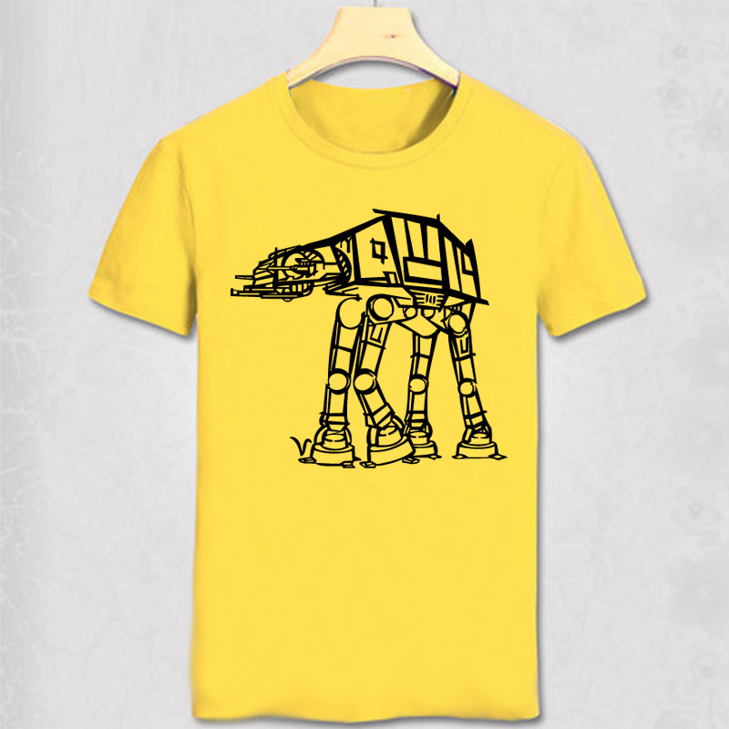Star Wars Men T Shirts Short Sleeve Millenium Falcon Distinct Man Cartoon t-shirt Leisure Summer Tops Darth Vader Game T Shirt