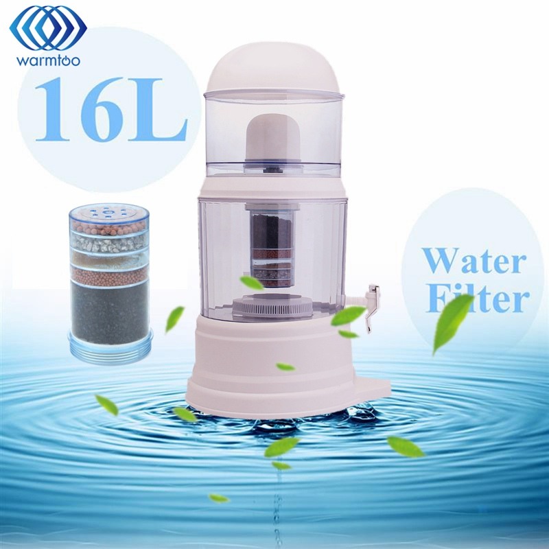 16L Water Purifier 6 Stage Water Filter System Alkaline Purification Activation Water Cleaning Pitcher Home Office Use wholesale lcd alkaline water ionizer