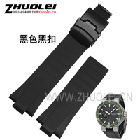 24mm 11mm Lug Black Lug End Rubber Waterproof Bracelet Watchband For Men S Oris Watches
