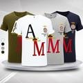 2016 Aeronautica Militare Hombres Camiseta de Algodón de Manga Corta Bordado Air Force One Camiseta Homme Marca Camiseta Hombres Camisa Militar