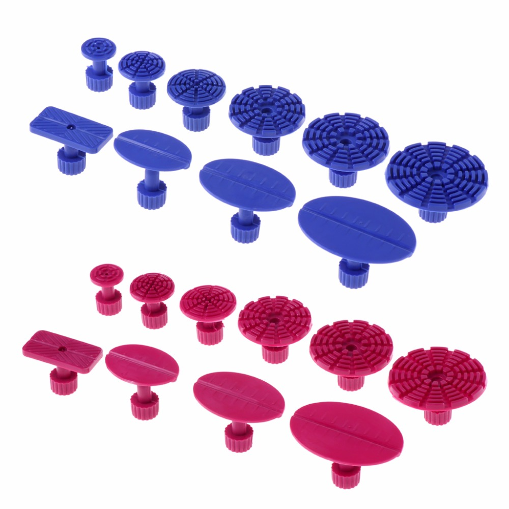 10 Pcs Paintless Car Auto Body Dent Repair Tool Lifter PDR Puller Tab Removal Blue/Red Color