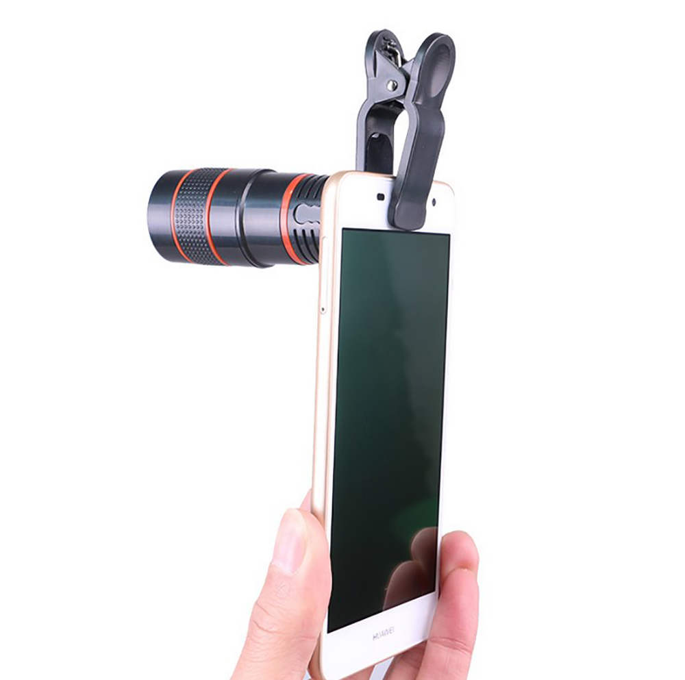 Image 2 - Universal 8X Optical Phone Camera Lens Telescope Monocular Wide angle for iPhone Huawei Samsung with free smartphone holder-in Monocular/Binoculars from Sports & Entertainment