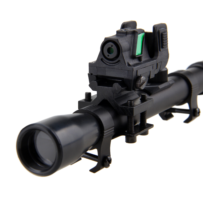 532nm Green Laser Sight Scope Dot with Air Rifle Gun Scope Telescopic Sight and Rail 20mm Picatinny/Weaver Barrel Mount tactical airsoft aeg rifle ak rear sight rail low profile picatinny scope mount rail ak 47 sight rail weaver 20mm 1 0004