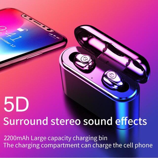Bluetooth 5.0 Headset TWS Wireless Earphones Mini Earbuds Stereo Headphones wireless sports bass bluetooth earphone with mic